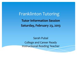 Franklinton Tutoring