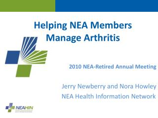 Helping NEA Members  Manage Arthritis