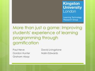 More than just a game: Improving students' experience of learning programming through gamification