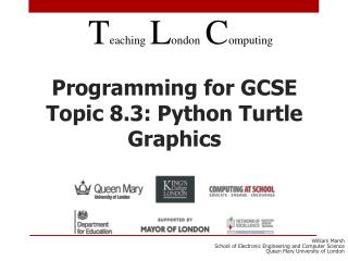Programming for GCSE Topic 8.3: Python Turtle Graphics