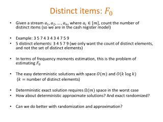 Distinct items:
