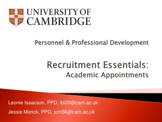 Personnel Essentials