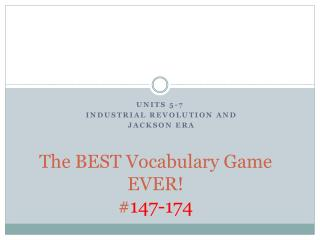 The BEST Vocabulary Game  EVER! # 147-174
