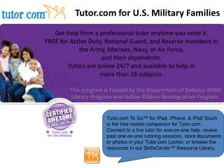 Tutor for U.S. Military Families