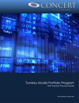Turnkey Model Portfolio Program TMP Advisor Process Guide