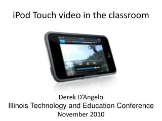iPod Touch video in the classroom