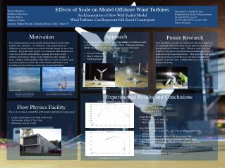 Effects of Scale on Model Offshore Wind Turbines An Examination of How Well Scaled Model
