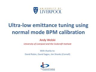 Ultra-low emittance tuning using normal mode BPM calibration
