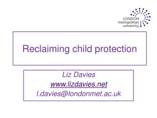 Reclaiming child protection