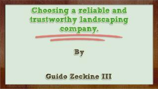 ppt 31814 Choosing a reliable and trustworthy landscaping company