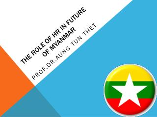 The Role of HR in future of  Myanmar