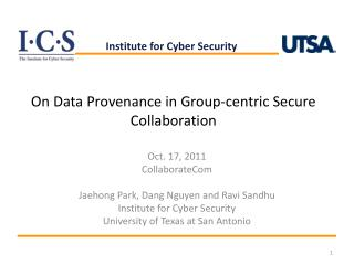 On Data Provenance in Group-centric Secure Collaboration