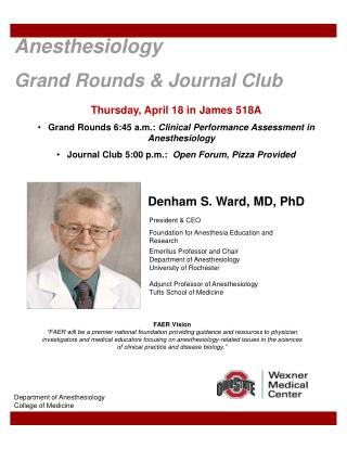 Anesthesiology  Grand Rounds & Journal Club