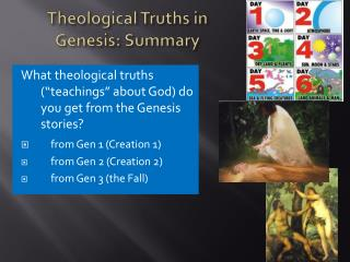 Theological Truths in Genesis: Summary
