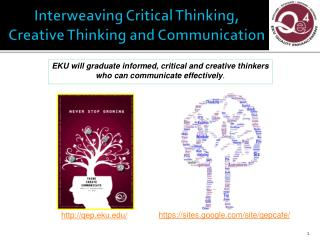 Interweaving Critical Thinking, Creative Thinking and Communication