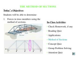 THE METHOD OF SECTIONS