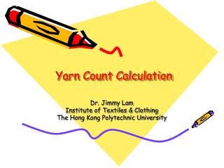 Yarn Count Calculation