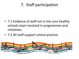 7.  Staff participation