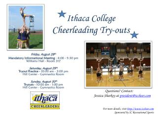 Ithaca College Cheerleading Try-outs