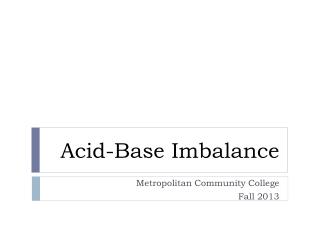 Acid-Base Imbalance
