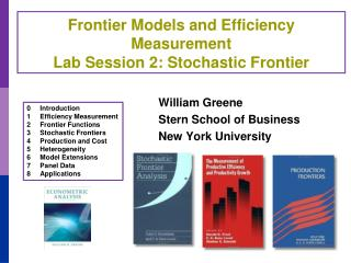 Frontier Models and Efficiency Measurement Lab Session 2: Stochastic Frontier