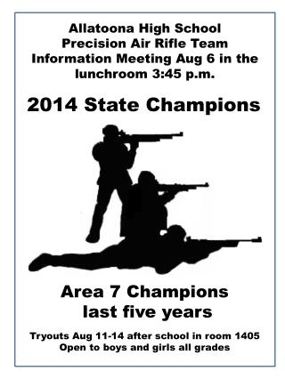 Allatoona High School Precision Air Rifle  Team