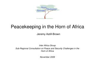 Peacekeeping in the Horn of Africa