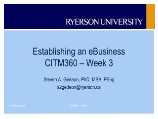 Establishing an eBusiness CITM360   Week 3