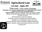 Agricultural Law  Fall 2006 -- AgEc 455