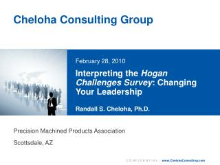 Interpreting the  Hogan Challenges Survey : Changing Your Leadership  Randall S. Cheloha, Ph.D.