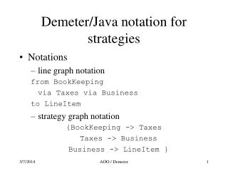 Demeter/Java notation for strategies