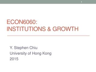 Welfare Development in Hong Kong
