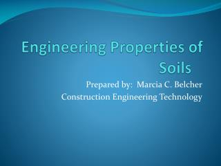 Engineering Properties of Soils