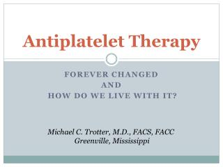 Antiplatelet Therapy