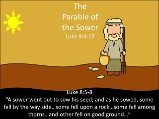 The Parable of the  Sower Luke 8:4-15