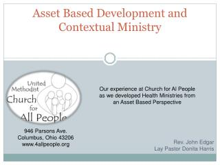 Asset Based Development and  C ontextual Ministry