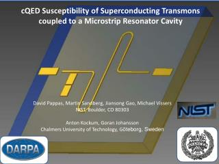 cQED  Susceptibility of Superconducting Transmons coupled to a Microstrip Resonator Cavity