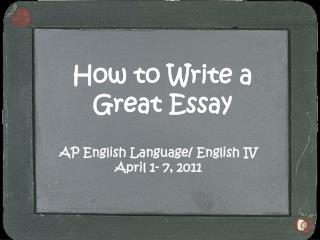 How to Write a Great Essay
