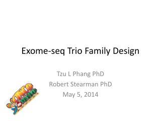 Exome-seq  Trio Family Design