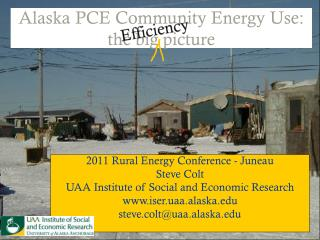 Alaska PCE Community Energy Use: the big picture