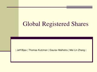 Global Registered Shares