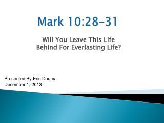 Mark 10:28-31