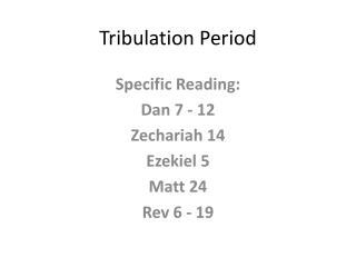 Tribulation Period