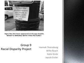 Group 9 Racial Disparity Project