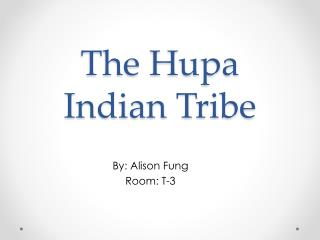 The  Hupa  Indian Tribe
