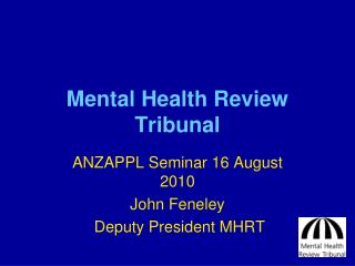Mental Health Review Tribunal