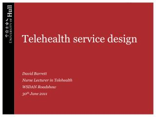 Telehealth service design