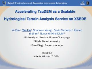 Accelerating TauDEM as a Scalable Hydrological Terrain Analysis Service on XSEDE