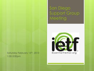 San Diego Support Group Meeting