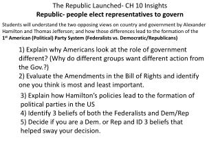 The Republic Launched- CH 10 Insights Republic- people elect representatives to govern